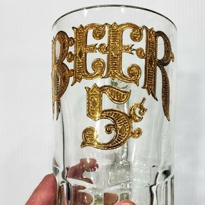 5 cents Beer clear stein